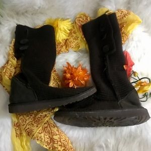 UGG SWEATER MATERIAL BOOTS